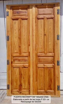 Puertas de recoupage for Cuanto cuesta una puerta de madera